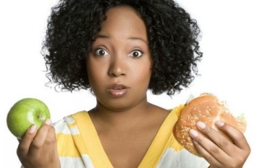 black-women-choosing-between-food